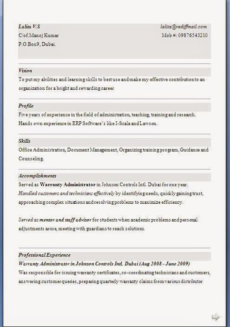 download resumes Sample Template Example ofExcellent Curriculum - teaching objective resume