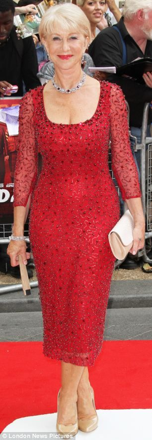 6470be4b3a4 Helen Mirren  The dress that can make ANY middle-aged woman look drop-dead  gorgeous  Helen Mirren sparkled in it this week.