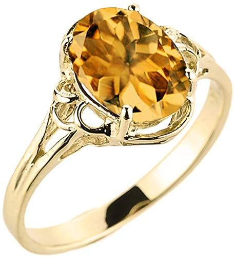 New Modern Contemporary Rings Elegant 10k Yellow Gold November Birthstone Genuine Citrine Gemstone Solitaire Ring Online Contemporary Ring Gemstone Solitaire Ring Black Diamond Solitaire Ring