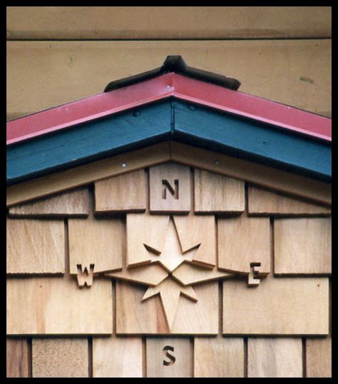 Compass Detail Cedar Shingle Siding Shingle Siding Cottage Exterior