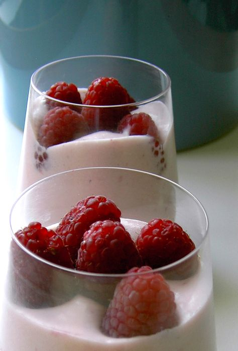 Julia Child`s raspberry Bavarian cream