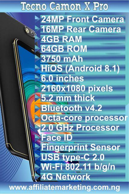 Tecno Camon X Pro - Full Specs and Price | Phones | Newest