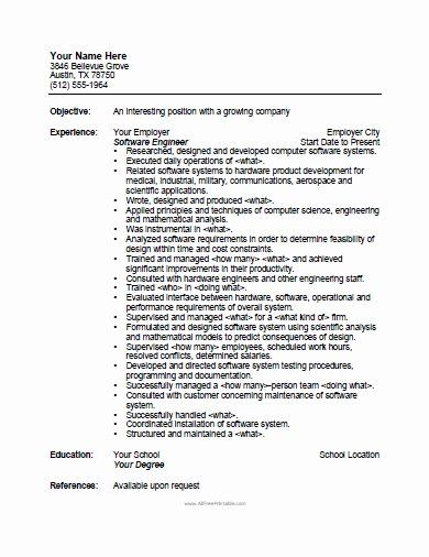 Pin Di Best Objective Resume Sample