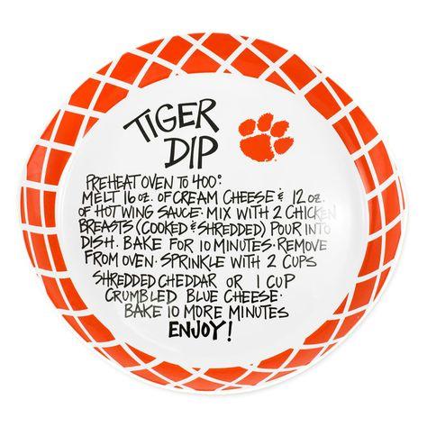 Clemson Tigers Dip Recipe Serving Platter #clemson