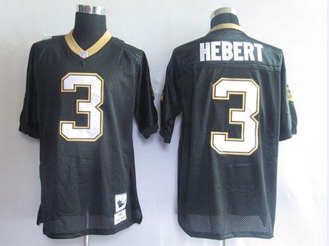 huge discount 7410c bae2f $25.00 NFL Jersey New Orleans Saints Bobby Hebert #3 Black ...