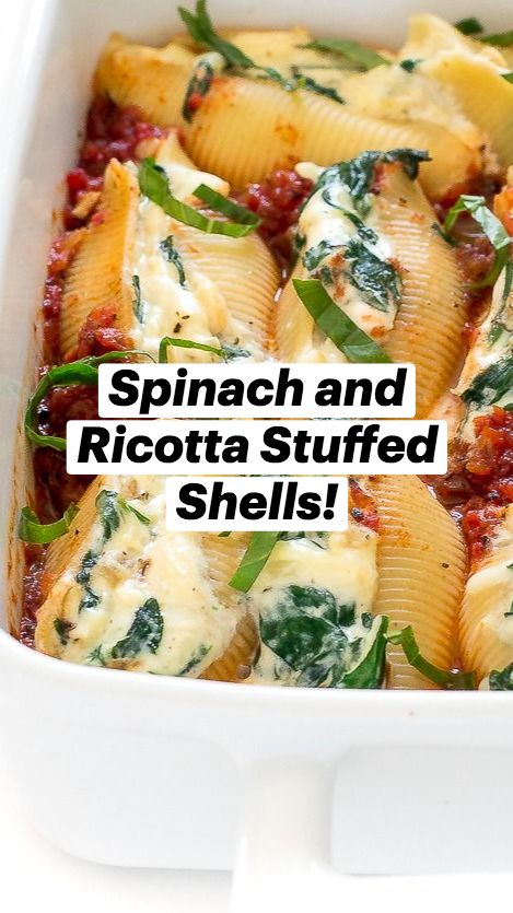 Spinach and Ricotta Stuffed Shells!