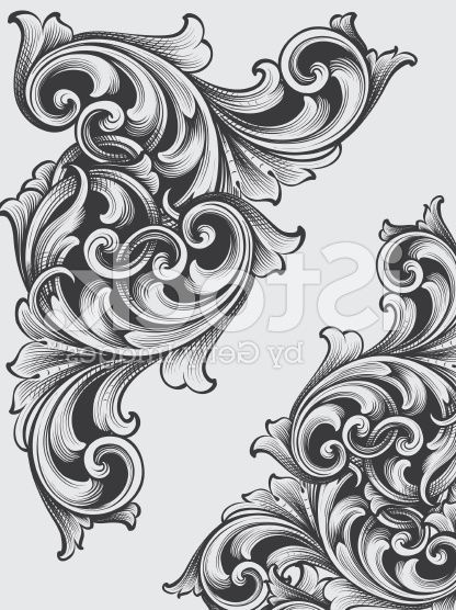 Contoh Gambar Dekoratif Hewan Tumbuhan Dan Motif Hias Dizeen Font Tato Tato Bermakna Tato Kecil