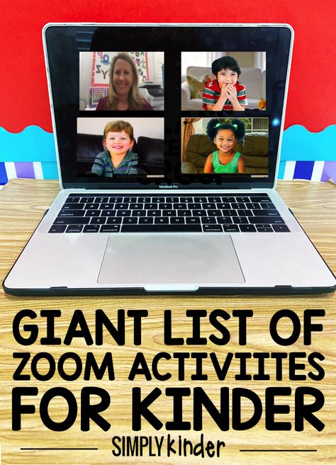 With distance learning continuing, many teachers have been using Zoom and other conferencing platforms to meet with students. But in kindergarten, activities can be hard and so this is our community list of non academic Zoom Activities for Kinder. Kindergarten Graduation, Kindergarten Teachers, Kindergarten Activities, Learning Activities, Activities For Kids, Educational Activities, Kindergarten Reading, Preschool Learning, Virtual Class
