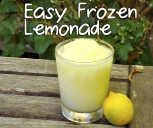 "Easy Frozen Lemonade--this is just the actual lemonade recipe, but I'm going to add Barcardi Limon to it to make a cocktail like Applebee's ""Summer Squeeze""!"