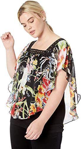 Foxcroft Plus Size Womens Addison Diamond Paisley Blouse