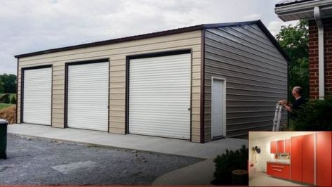 Garage Storage Units Lowes And Pics Of Garage Organization Balls Garage Garagemakeover Garage Storage Garage Garage Doors Metal Garage Buildings