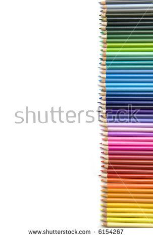 Color Pencils In Rainbow Order Buy This Stock Photo On