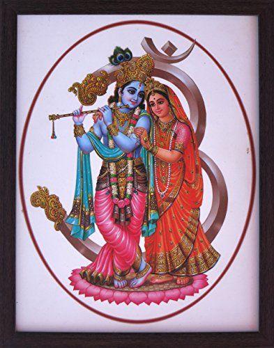 Lord Krishna Radha Symbol of Divine Love paper poster bedroom decorating themes
