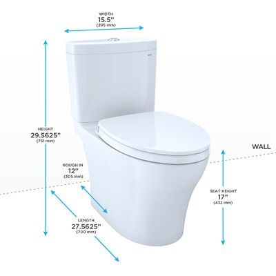 Toto Aquia Dual Flush Elongated Two Piece Toilet With Cefiontect Seat Included Wayfair Toto Toilet Washlet Toilet Cleaning