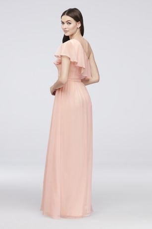 7eaa47b4083 Chiffon Bridesmaid Dress with One-Shoulder Flounce Style EJ8M8683 ...