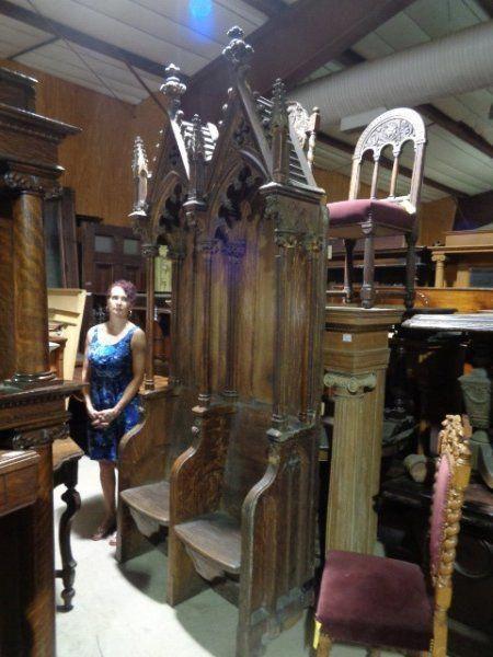 Excellent Antique Gothic Style Furniture Castle Church Antiques Creativecarmelina Interior Chair Design Creativecarmelinacom