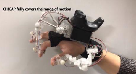 Chic Vr内の手の動きをトラッキングする触覚 振動フィードバック 含めた低コストの外骨格システムを発表 トラッキング 電気工学 発表