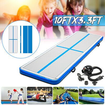 Ad Ebay Link 10ft Inflatable Air Mat Track Tumbling Gym Floor Home Camping Gymnastics W Pump In 2020 Gymnastics Tumbling Mat Gymnastics Gym Tumble Mats