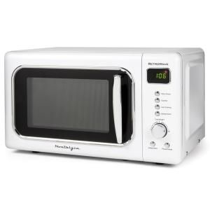 Magic Chef Retro 0 7 Cu Ft Countertop Microwave In Black Mcd770cb The Home Depot Countertop Microwave Oven Countertop Microwave Microwave Oven
