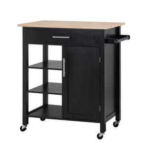 Sunjoy Rosemont Glossy Black Kitchen Cart With Towel Rack 120306013 B The Home Depot Rolling Kitchen Cart Black Kitchens Kitchen Island Storage,Lebanon New Hampshire Airport