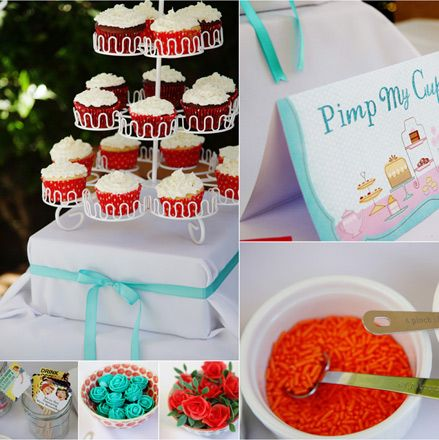"Wedding Ideas : Bridal Shower Idea - Create a ""Pimp My Cupcake"" Bar!"