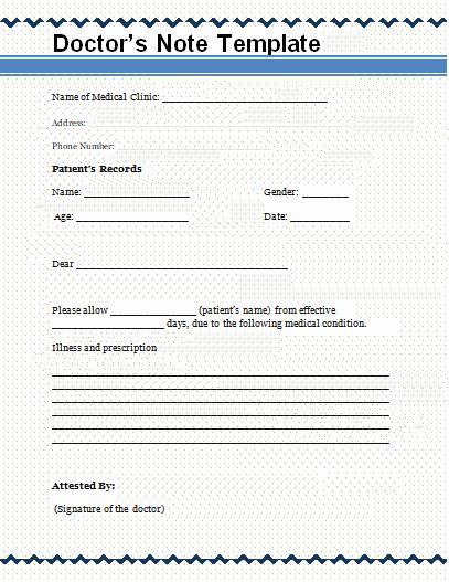 Fake Hospital Letter Template from i.pinimg.com