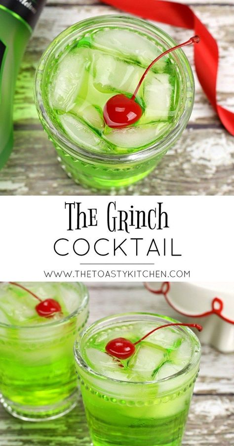 The Grinch Cocktail by The Toasty Kitchen #christmasrecipes #recipes #drinkrecipes #cocktailrecipes #cocktails #christmascocktail #grinchcocktail #thegrinch #holidaycocktail #alcoholic #alcoholicdrinks