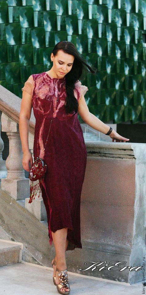 0bea61f872c Платья ручной работы. Alstroemeria шелковое платье ручной работы. KiEra. Ярмарка  Мастеров. Нунофелт