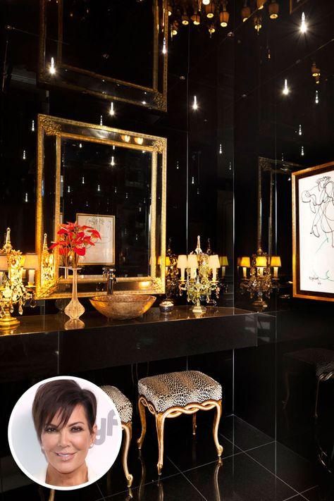 Kris Jenner's Bathroom  - ELLE.com
