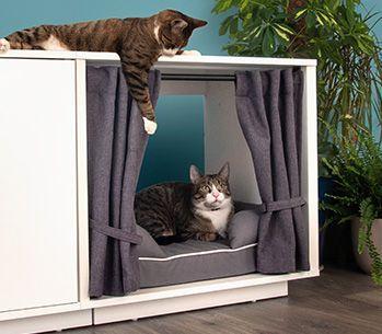 Maya Nook 24 Katzenhaus Weiß Cat Houses Indoor Indoor Dog House Indoor Cat