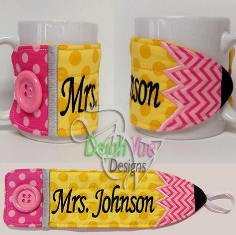 Pencil mug wrap for teacher gifts