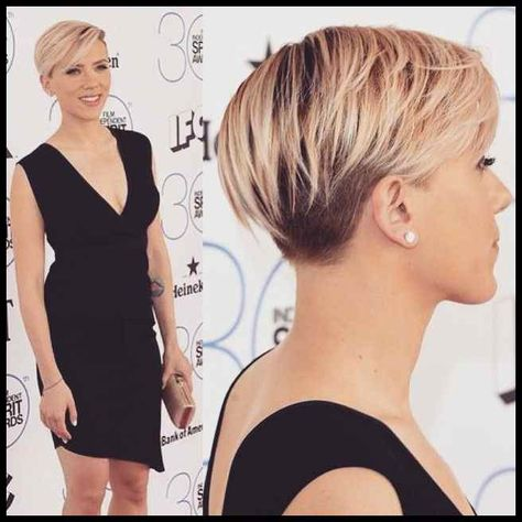 Top 100 Scarlett Johansson Short Hair Photos Heres A Closer