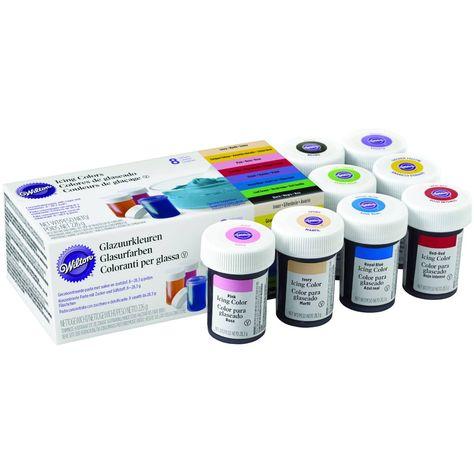 Wilton Icing Colours Kit 8 Pack | Hobbycraft | Oil based ...