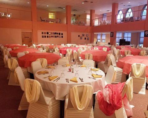 Chair Cover Set Up  Gospel Music Workshop America Banquet _________________________ #eventsanddecor #Gospel #GospelMusic #DMV #washingtondc #maryland #virginia #explore #wedding #banquet #decorationideas #decorations #style