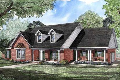 House Plan 5445 00036 Luxury Plan 2 845 Square Feet 4 Bedrooms 3 Bathrooms In 2020 Courtyard House Plans Country Style House Plans