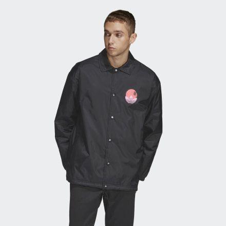 Tropical Coach Jacket Black Mens Coach Jacket Men Coach Jacket Mens Jackets