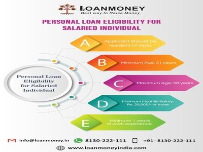 Personal Loan Eligibility For Salaried Person In 2020 Personal Loans Loan Loan Money
