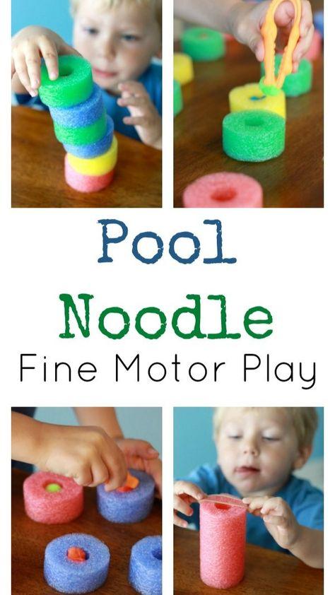 Pool Noodle Fine Motor Play
