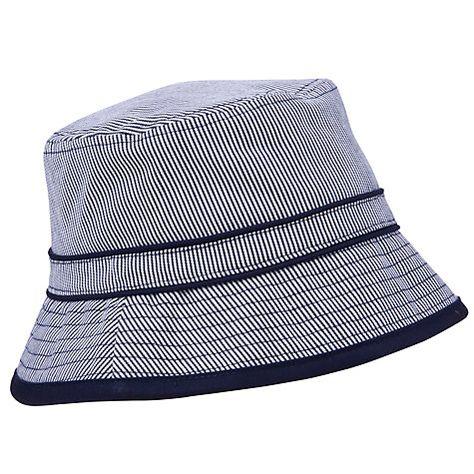 c58dc1754 Buy John Lewis Boy Stripe Ticking Bucket Hat, Navy/White Online at ...