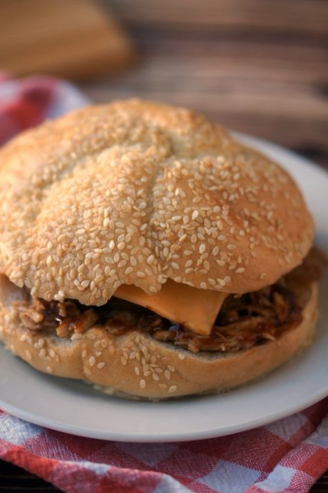 Slow Cooker BBQ Pork Sandwiches Recipe #CookingUpGood #coupon #ad