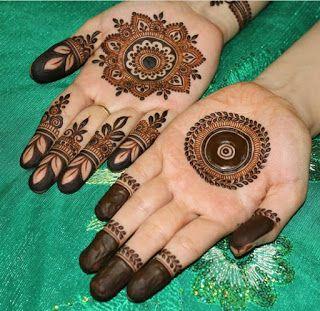 mehndi design circle shape