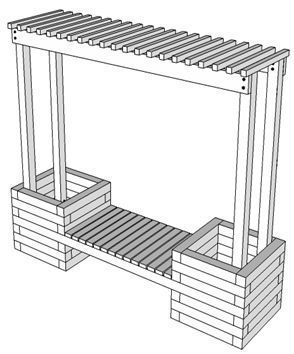 How To Build A Trellis Planting Bench