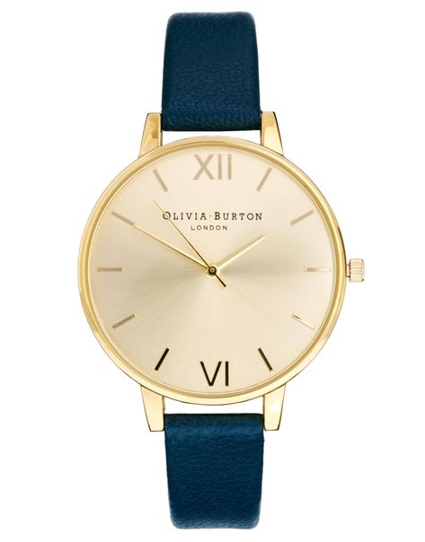 Olivia Burton | Olivia Burton Big Dial Navy Watch at ASOS