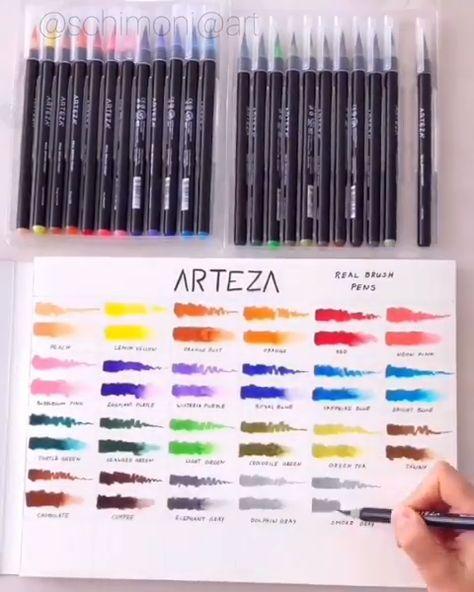Real Brush Pens Set Of 24 Brush Pen Pen Sets Marker Art
