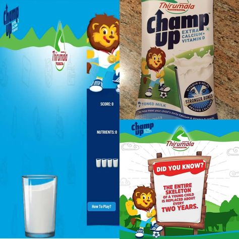 has such a cute mascot -    got me thinking on why a child's demand for calcium - @thirumalachampup has such a cute mascot - #Arithelion  #AriWisdom got me thinking on why a child's demand for calcium is so high. I tried their game which is a fun way to show kids that their milk is filled with so many good things.  Click on the link in bio to know more about #ThirumalaChampUp and its mascot #AriTheLion  #ChampUpMilk #PureBoneShakti #StrongerBones #CalciumForStrongerBones #ChildrensGrowth #Nutri