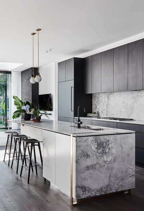 Home Kitchens, Contemporary Kitchen, Kitchen Inspiration Design, Kitchen Renovation, Home Decor Kitchen, Kitchen Interior, Sustainable Kitchen, Kitchen Layout, Modern Kitchen Design