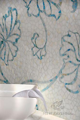Folia Sea Glass™ Backsplash   New Ravenna