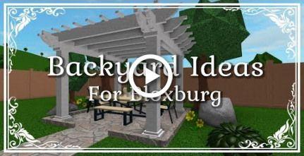 Bloxburg Ideas For Your Backyard Diy Backyard Patio Diy Garden Ideas Easy Backyard