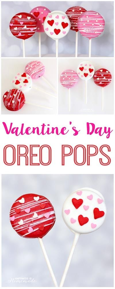 Easy Valentine's Day Treats | With the holiday season in full swing, we are sharing some easy Valentine's Day treats that are perfect for kids' parties at school or even that special someone in your life. Valentine's Day Oreo Pops. Spoil your loved ones this Valentines Day with these yummy and easy Valentines Day treats! #valentinesdaytreats #vdaytreats #vday #valentinesday #valentinesdayrecipes #vdayrecipes #valentinesdaydesserts #vdaydesserts #vdaykidsideas #valentinesdaykidsideas