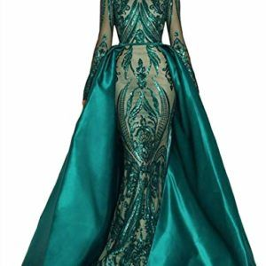 Sparkly Beaded Satin Mermaid Evening Celebrity Party Dress Prom Pageant Gown New
